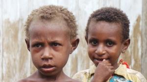 Young indigenous Malind children from Zanegi village, Merauke, Papua, Indonesia/FPP, 2013