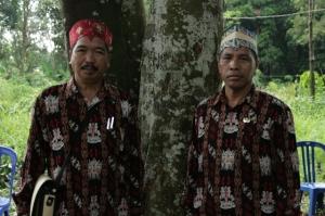 Gohong village leaders, Central Kalimantan/ March 2014